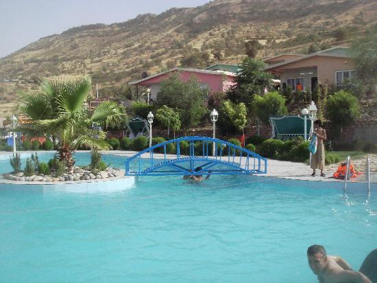 The large pool in Aram Tourist Village