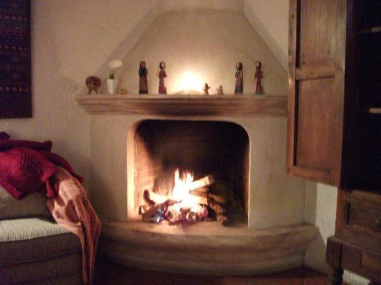 Posada El Antano: fire place