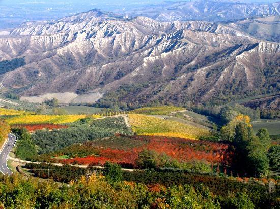 Brisighella, Italy: Paesaggi mozzafiato in ogni stagione