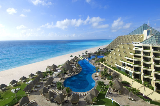 Paradisus Cancun: Aerial View of Hotel & Beach
