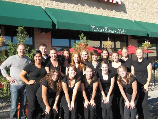 Vito's Italian Kitchen : Vito on left with his wait staff (from Facebook)