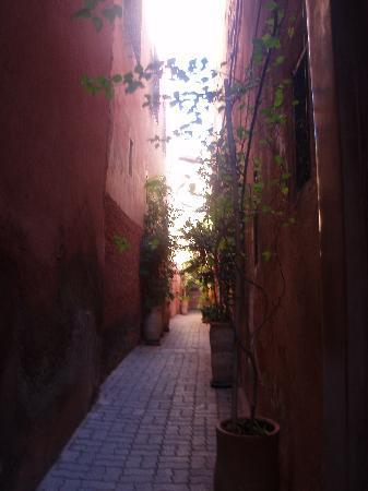 Riad Dar One : safe alleyway leading to the riad.
