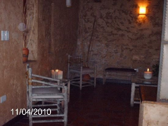 Hotel Refugio Del Inca: Velas en la noche