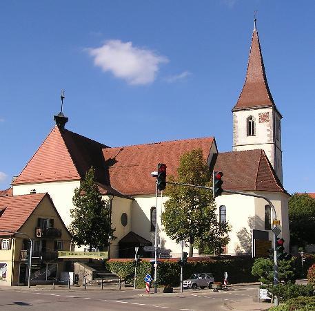 "Stuttgart, Jerman: Katholische Kirche ""Heilig Kreuz"""