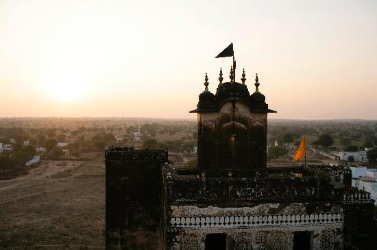 Narayan Niwas Castle: View from the roof at sunset