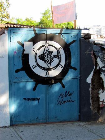 Santiago, Chile: Artwork by Neruda's home