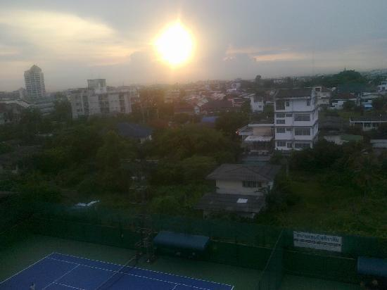 Sivalai Place: Sunset from 7th floor