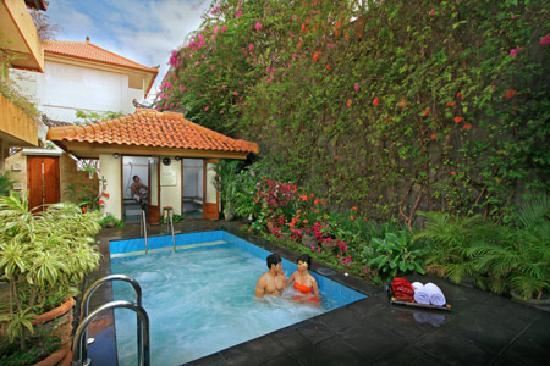 Febri's Spa: Outdoor jacuzzi and steam rooms