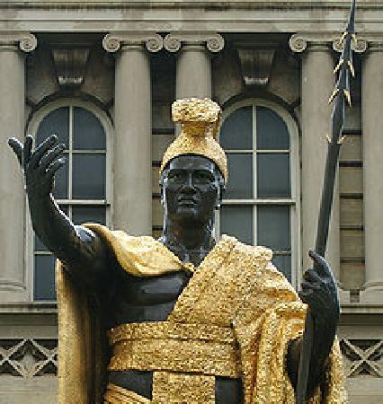 Honolulu, Hawaï: king Kamehameha's statue