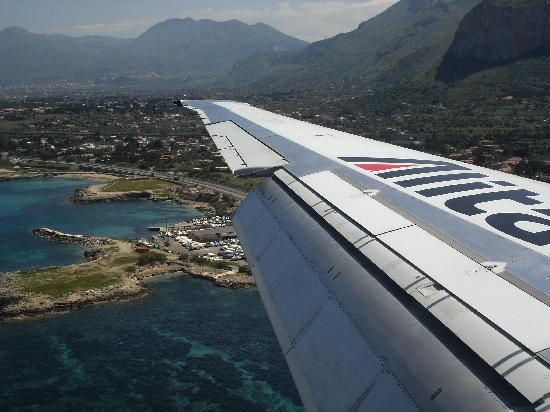 landing at Palermo airport