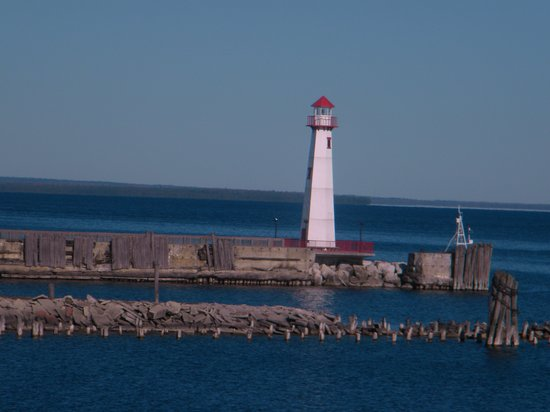 Saint Ignace, MI: lighthouse in St. Ignace