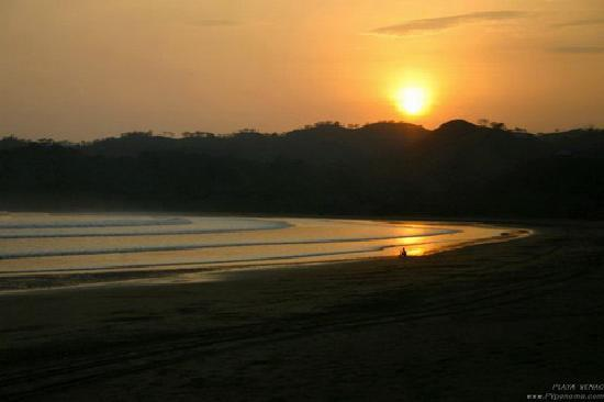 Sunset over Playa Venao