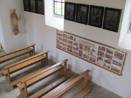 St. John Nepomuk: interior with the photo collection seen from the empore
