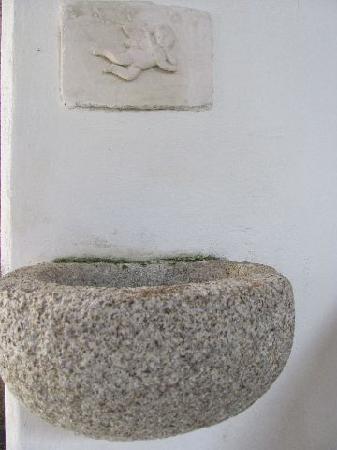 St. John Nepomuk: stone font