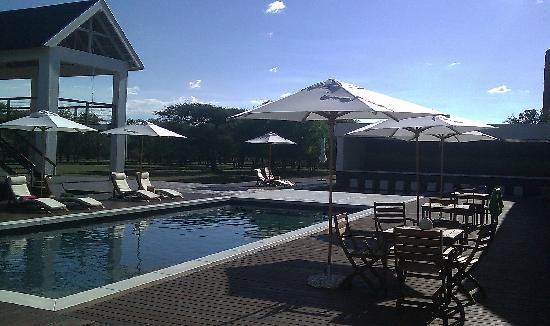 Emanya@Etosha: Swimming pool next to restaurant
