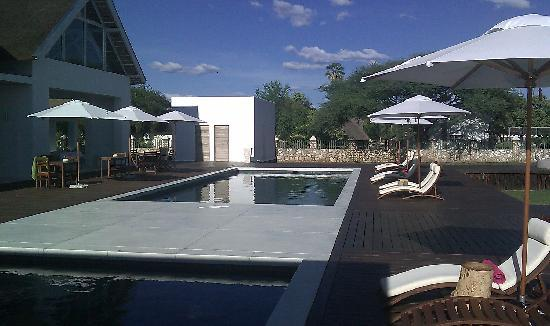Emanya@Etosha: Swimming pool from bar side