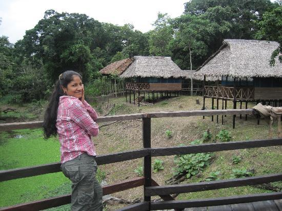 Amazon Refuge: My wife and bungalows