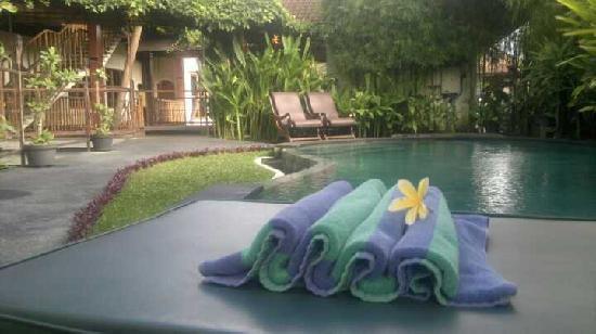 Junjungan Ubud Hotel and Spa: Poolside (small pool)
