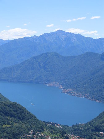 Castiglione d'Intelvi, İtalya: Vista sul lago di como