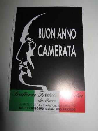 Castiglione del Lago, อิตาลี: calendario omaggiato dai titolari