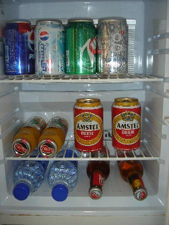 Kempinski Hotel Aqaba Red Sea: The minibar contents