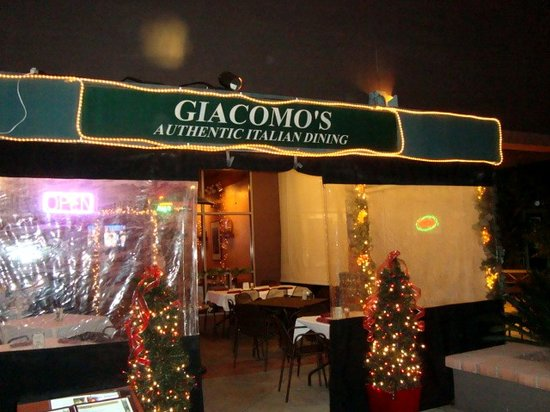 Giacomos Authentic Italian: Outside of the restaurant