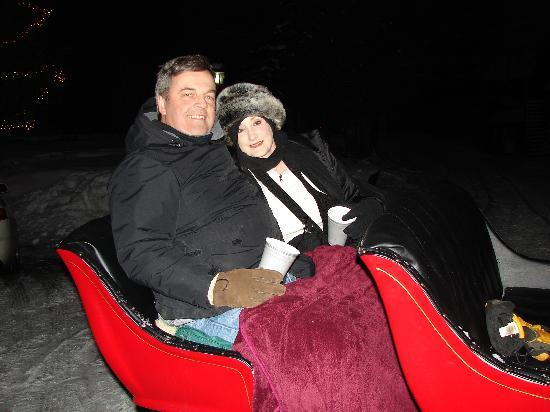 Sleigh ride arranged for us by Stone Hill Inn