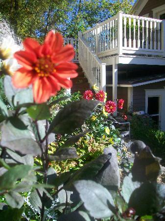 66 Center Street: Private garden on property.