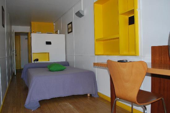 Hotel le Corbusier : chambre cabine