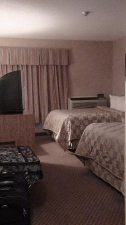 Comfort Inn Fredericton: two small beds, not much space