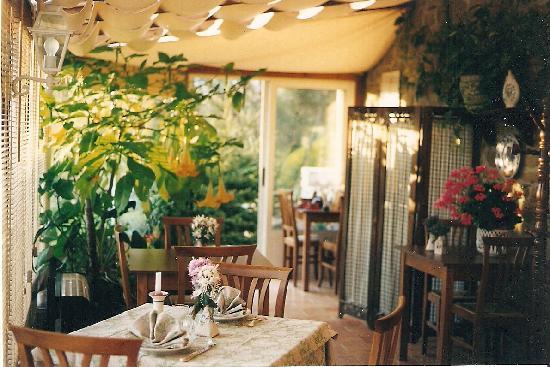 Agriturismo Le Cinciallegre: la veranda dove si fa colazione e cena
