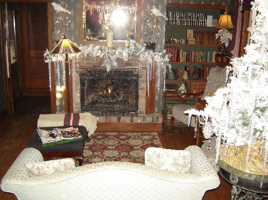 The Inn at Irish Hollow: Fireplace in sitting room in General Store