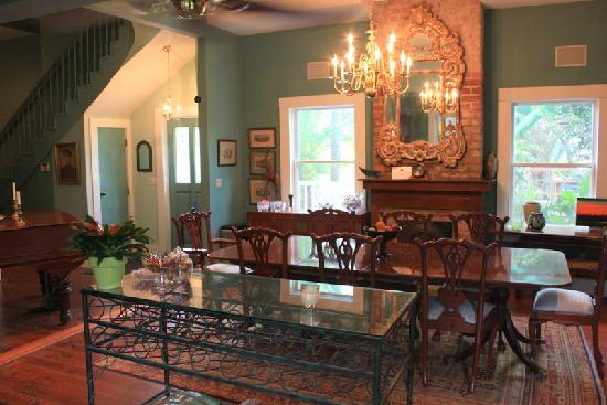 The dining room where our guests enjoy free Continental breakfast, daily.