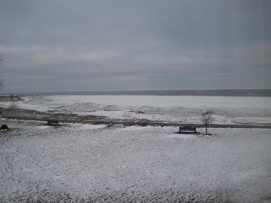 """The Lodge at Geneva-on-the-Lake: The view from our """"partial view room"""""""