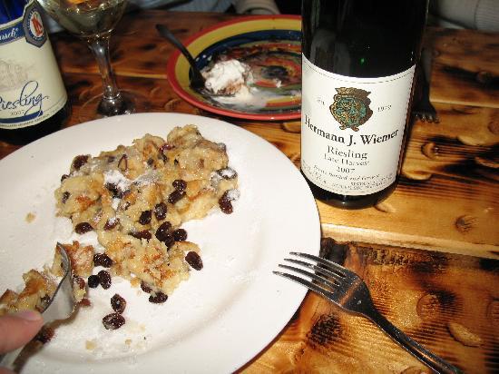 Herwig's Austrian Bistro : freshly made rum-soaked raisin dessert pastry