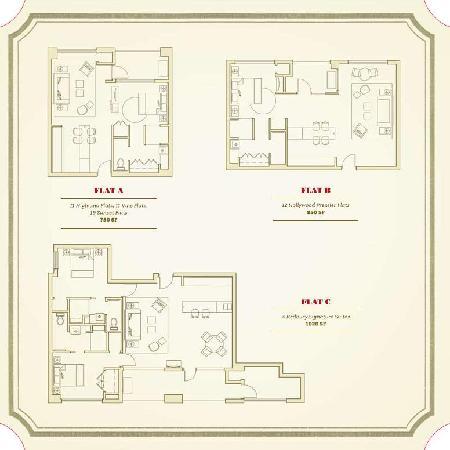 The Redbury Hollywood: Room Layouts