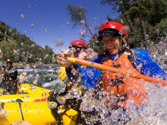 O.A.R.S. California Rafting: Whitewater splash on the American River