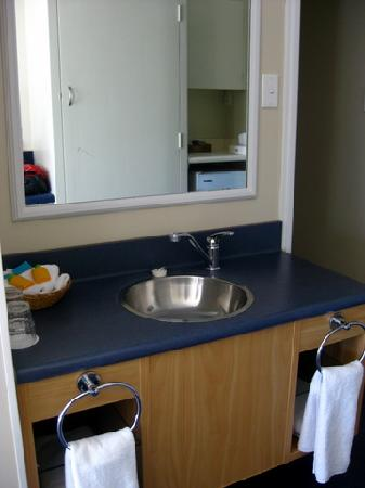 All Seasons Christchurch: the washbasin is not in the bathroom