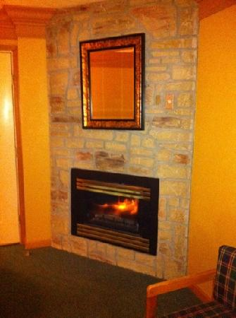 Willow Brook Lodge: fireplace