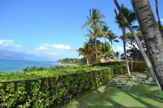 Wailea Ekahi Village: View from pool toward West Maui