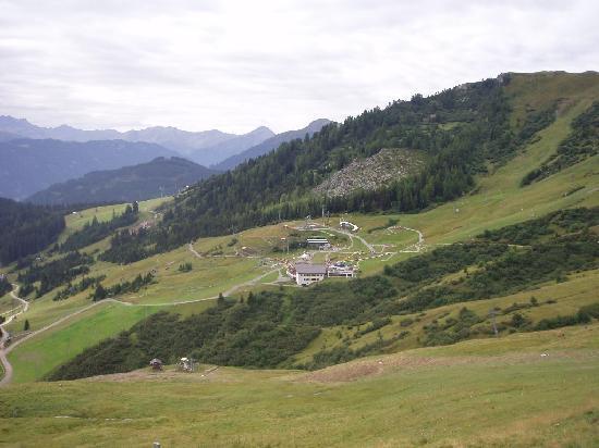 Fiss, Austria: Vue sur la vallée