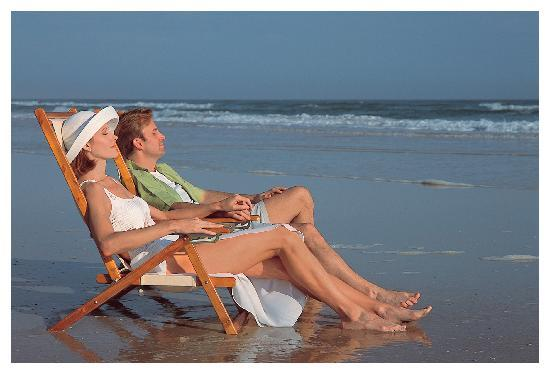 Daytona Beach, Flórida: Relaxing on a quiet stretch of beach