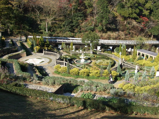 Akao Herb and Rose Garden: 庭園