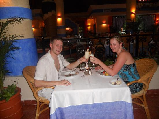 Grand Bahia Principe Tulum: Having dinner at Portifino