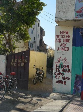 """El Nakhil Hotel & Restaurant: Notre loueur de vélos """"Chez Ahmed"""""""