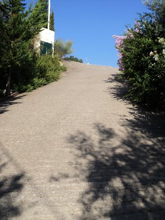 Myrto Vacation Relaxing Homes: Steep driveway!