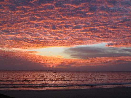 Beautiful sunset from Amazing Ngapali resort.