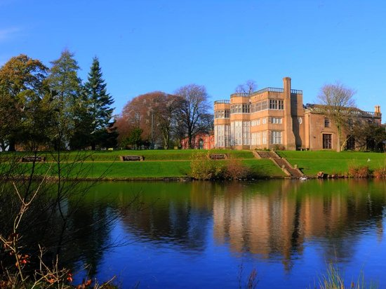 Astley Hall from the lake.