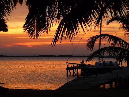 Tobacco Caye Lodge: Sunsets to die for