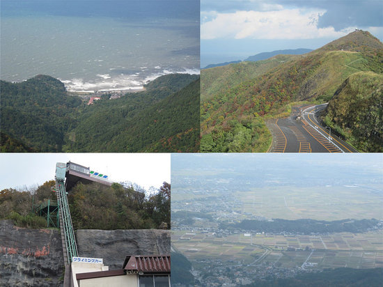 Niigata Prefecture, اليابان: 展望公園からの景色/スカイライン/クライミングカー